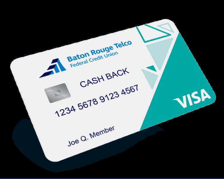 Baton Rouge Telco Visa cash back credit card