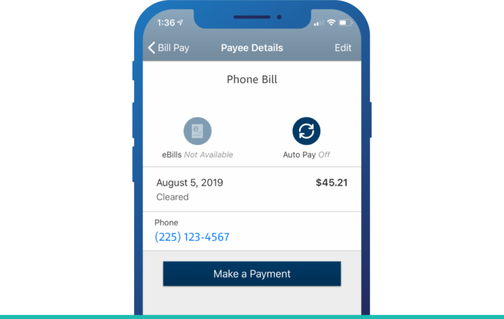 iPhone Bill Pay