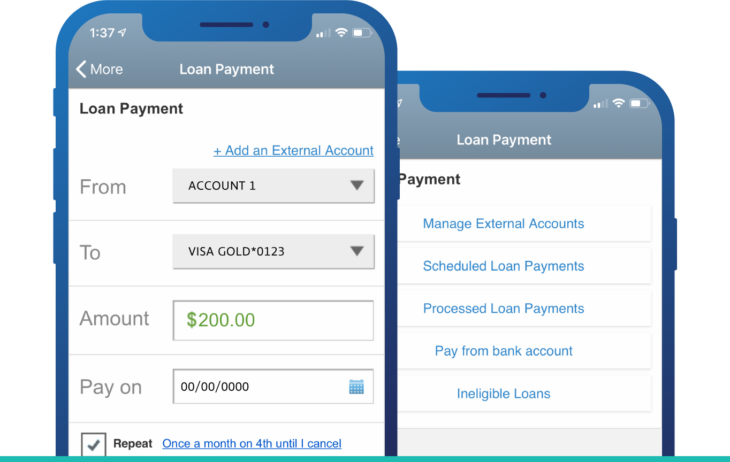 pay loan app screen on phone